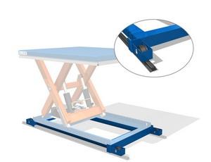 База для перемещения подъемного стола по рельсам