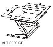 Схема подъемный стол с наклоняемой платформой