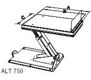 Чертёж подъемный стол с наклоняемой платформой