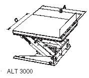 Габариты подъемный стол с наклоняемой платформой