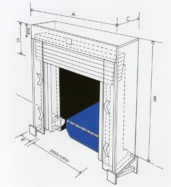 Габариты герметизатора проема WI